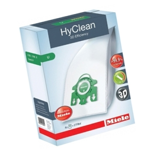 Miele HyClean 3D Efficiency U Dustbags - Pack of 4