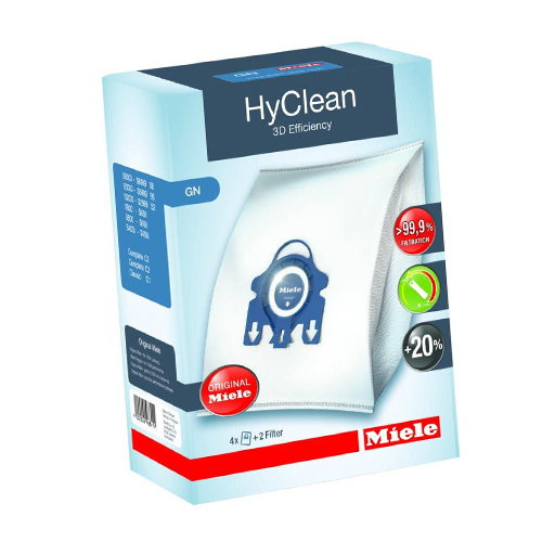 4 x Genuine Miele GN HyClean Vacuum Bags and 2 x Filters